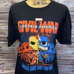 POP Tees. Civil War t-shirt.        A1012